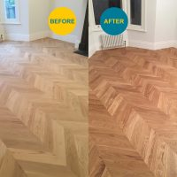 Floor Staining Before & After